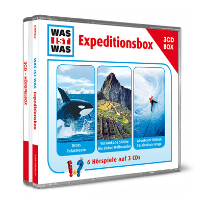 WAS-IST-WAS-Expeditionsbox mit 3 CDs