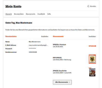 Finde zeitschriften kundennummer wo meine ich bei FAQ Kundenkonto